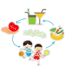 Healthy lifestyle over white background vector