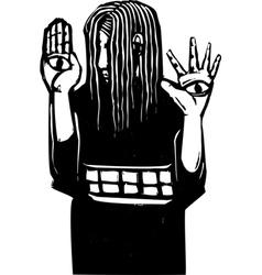 Seeing hands vector