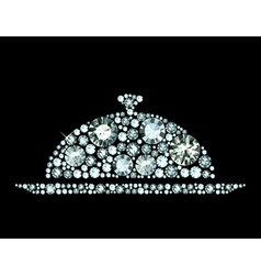 Diamond restaurant cloche vector