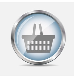 Shopping glossy icon vector