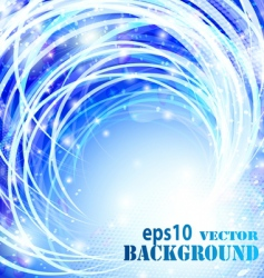 Abstract blue curves background vector