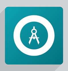 Flat compasses icon vector