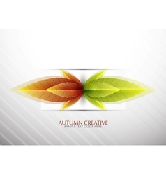 Creative autumn background vector