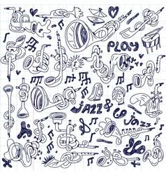 Jazz - doodles set vector