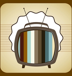 Tv old design vector