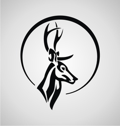 Tribal deer vector