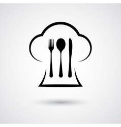 Cutlery with cap vector