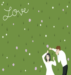Couple on yard vector