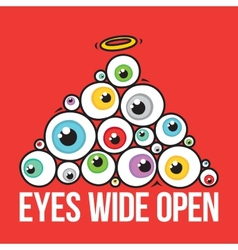 Eyes wide open pyramid vector
