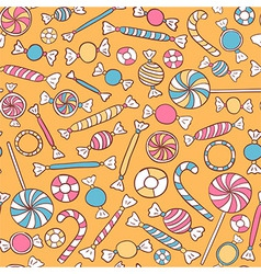 Sweets seamless pattern hand drawn vector