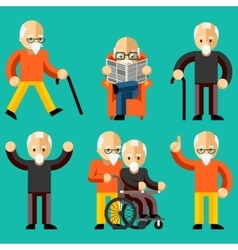 Older people elderly activity elderly care vector