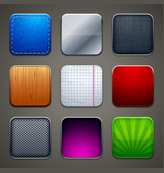 Backgrounds for apps icons vector