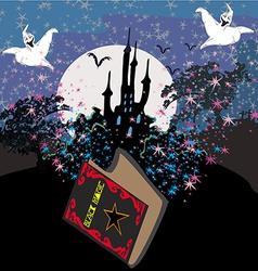 Black magic book vector