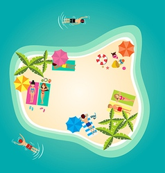 Summer holiday in tropical ocean island vector