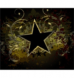 Military stile star background vector
