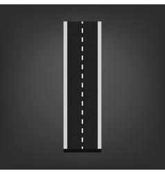 I letter road font vector