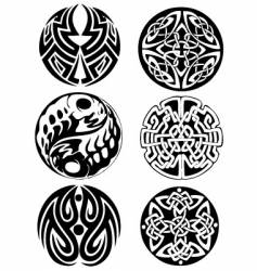 Abstract celtic design works vector