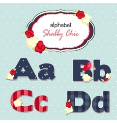 Alphabet shabby chic seamless swatch vector