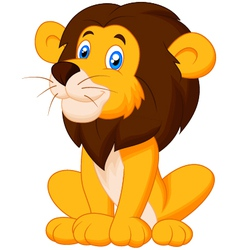 Cute cartoon lion vector