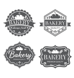 Collection of vintage retro bakery logo labels vector