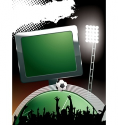 Football stadium banner vector