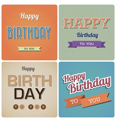 Vintage happy birthday card eps10 vector