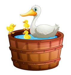 A bathtub with ducks vector