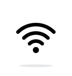 Wireless network icon on white background vector