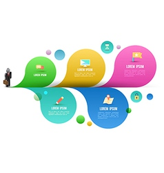 Business man with flat icons options vector