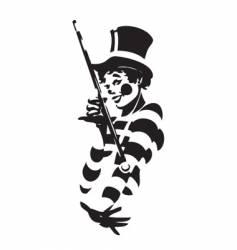 Clown illustration vector