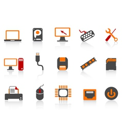 Computer equipment icon color series vector