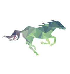 Horse of geometric shapes vector