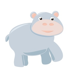 Happy hippo baby isolated on white background vector