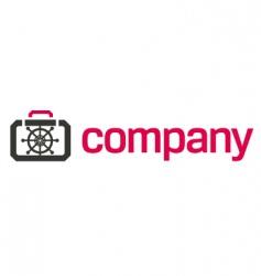 Bank safe logo security vector