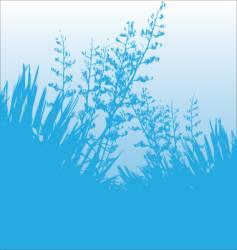 Blue flax vector