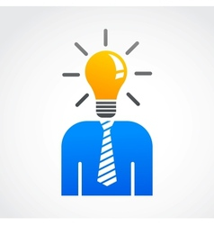 Idea and creative abstract human icon vector