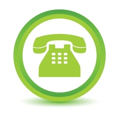 Green telephone icon vector