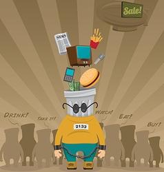 Consumer society vector