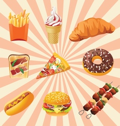 Fast foods vector