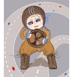 Little driver boy vector