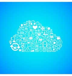 Computer cloud icon vector