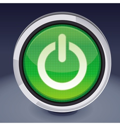 Power button - abstract design element vector