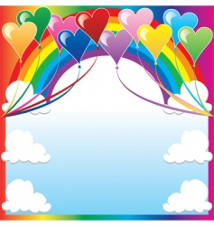 Heart balloon background vector