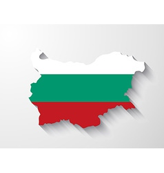 Bulgaria map with shadow effect vector
