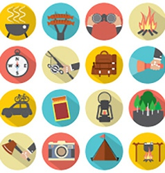 Modern flat design camping and outdoor activity vector