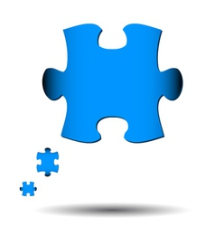 Abstract puzzle icon vector