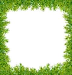 Christmas fir tree frame vector