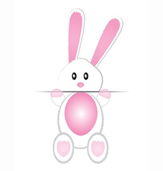 Cute bunny card vector