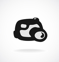 Digital camera logo cartoon shapes style vector
