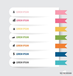 Note paper modern infographics banners vector